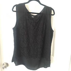 Mossimo Black lace blouse XXL